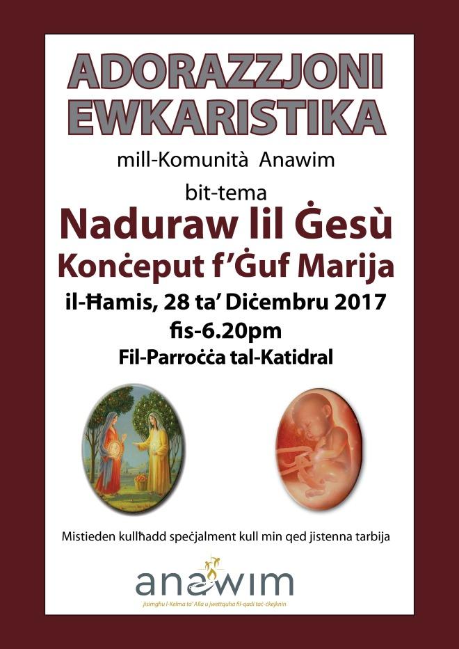 Poster Adorazzjoni katidral