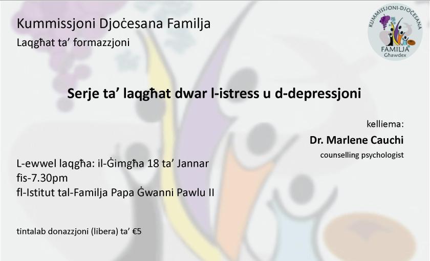 laqghat dwar l-istress u d-depressjoni