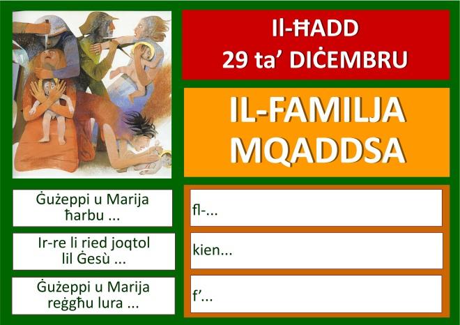 Familja Mqaddsa 2019 poster