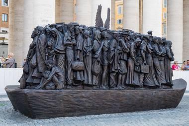 migrants monument vatican